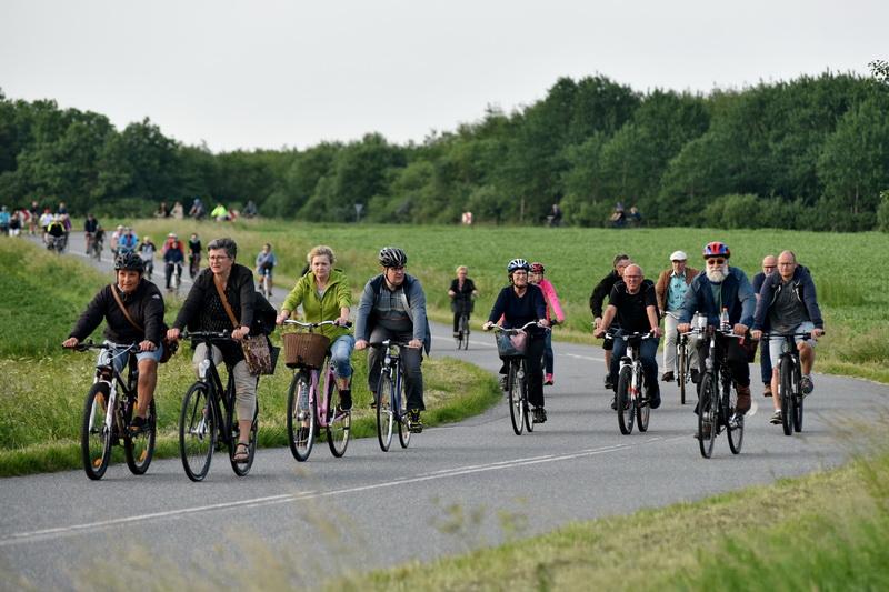 Billeder fra den by-arkæologiske cykeltur 15. juni 2017